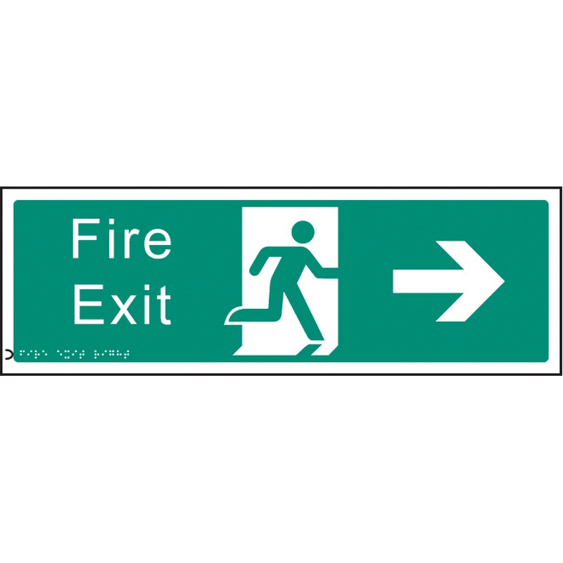 Braille - Fire exit right