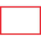 Blank Adapt-a-sign - Red Border 215x310mm