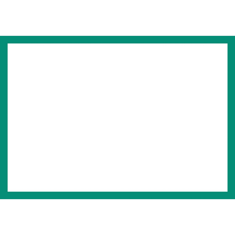 Blank Adapt-a-sign - Green Border 215x310mm