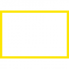 Blank Adapt-a-sign - Yellow Border 215x310mm