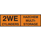 2WE multi cylinder storage placard alu