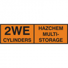 2WE multi cylinder storage placard sav