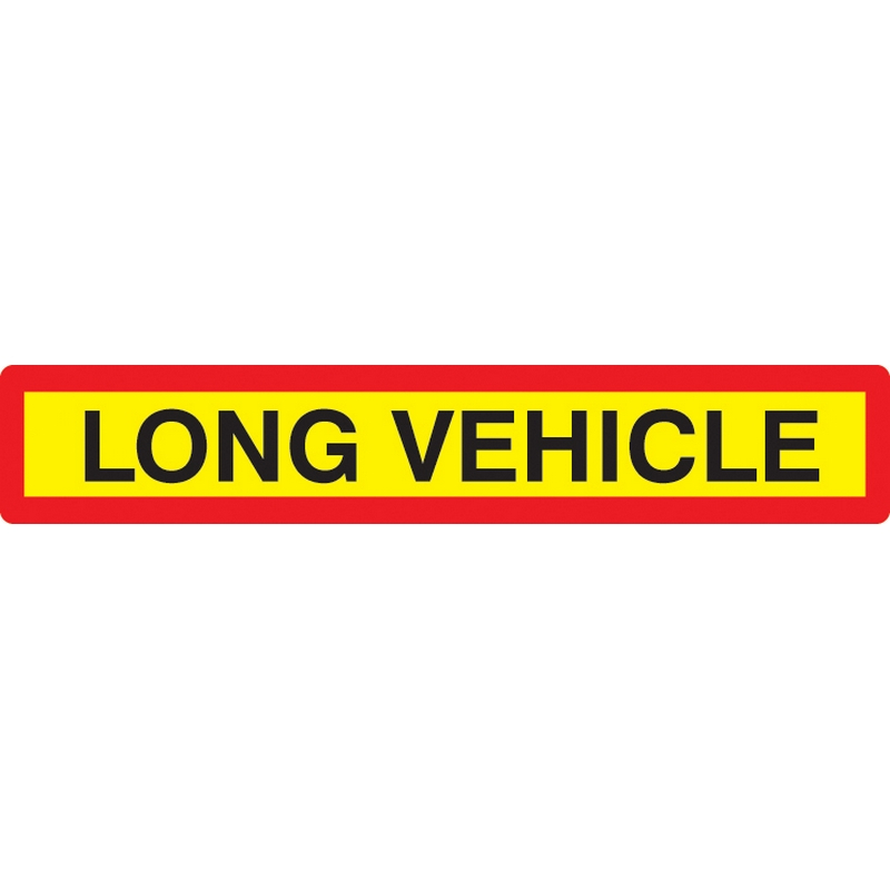 Long vehicle panel 1265x225mm reflective aluminium