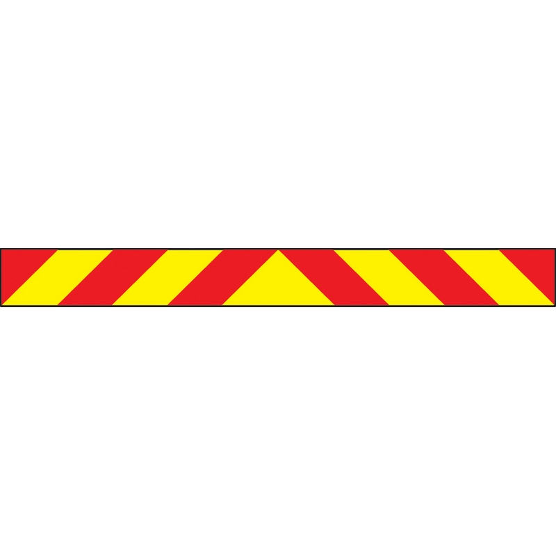 Vehicle hazard panel 1400 x 140mm reflective magnetic