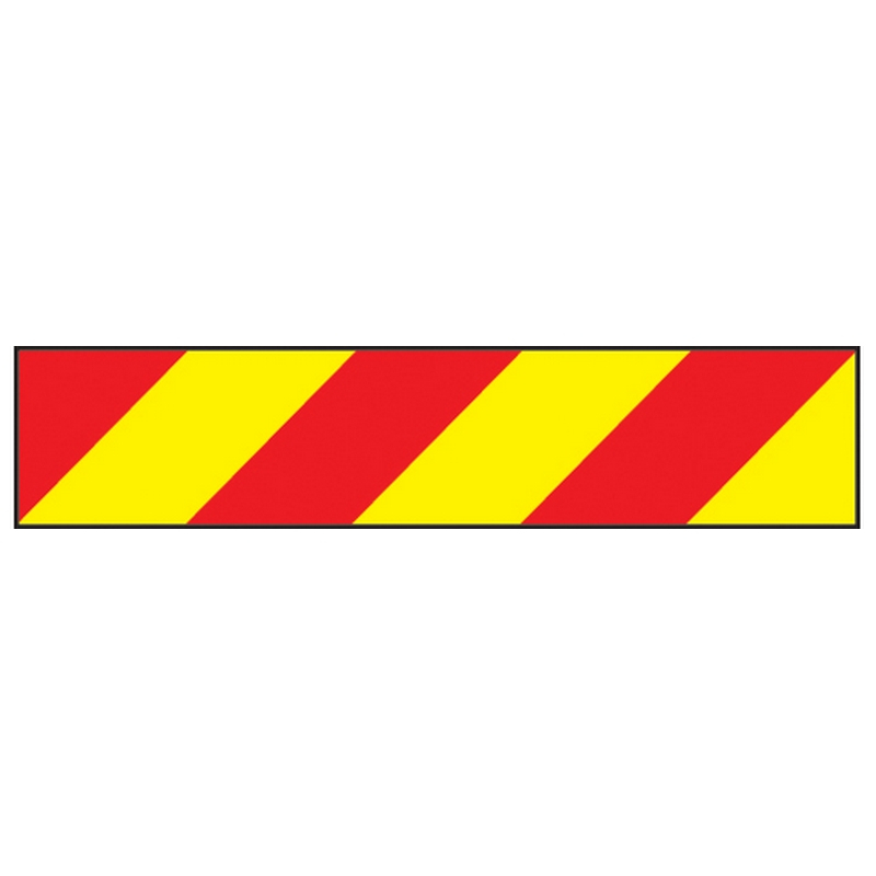 Vehicle hazard panel 700 x 140mm reflective magnetic
