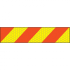 ECE70 Vehicle marking plate 600x140mm left hand chevron