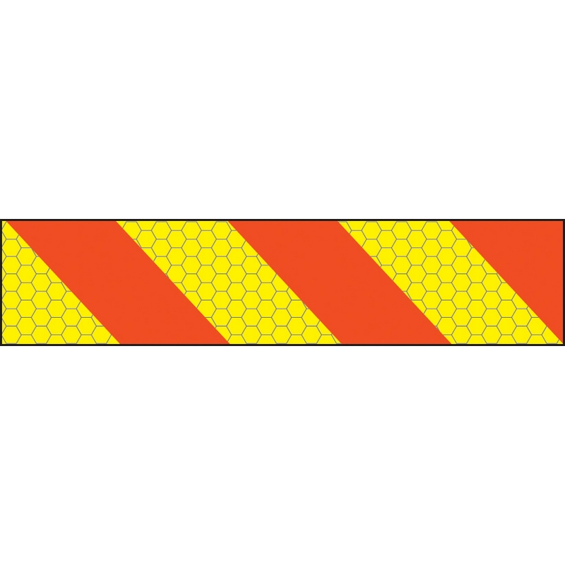 ECE70 Vehicle marking plate 600x140mm right hand chevron