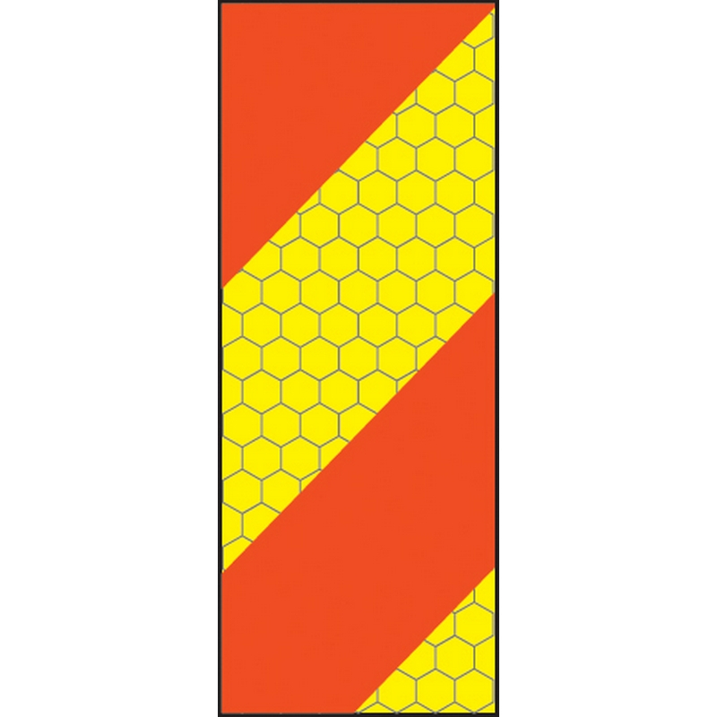 ECE70 Vehicle marking plate 140x300mm left hand vertical chevron