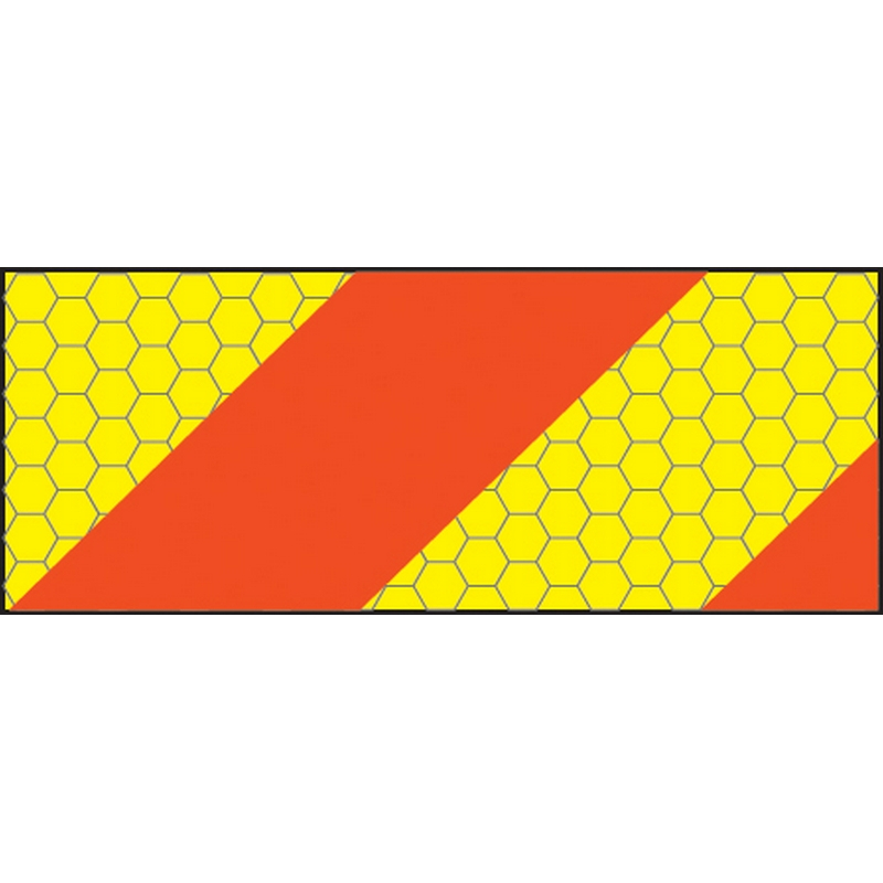 ECE70 Vehicle marking plate 300x140mm left hand horizontal chevron