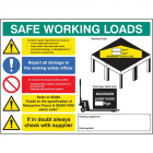 SWL mezzanine floor sign 5mm foamex 600x450mm