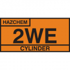 2WE cylinder storage placard alu