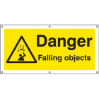 Danger falling objects banner c/w eyelets