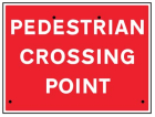 Pedestrian crossing point, 600x450mm Re-Flex Sign (3mm reflective polypropylene)