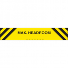 Max headroom 1200x150mm reflective aluminium
