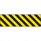 Hazard marker 600x150mm reflective aluminium right hand