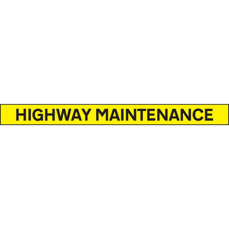 Highway maintenance - 1300x100mm reflective SAV