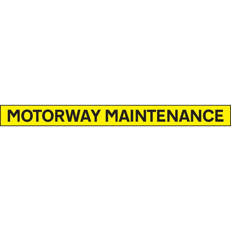 Motorway maintenance - 1300x100mm reflective SAV