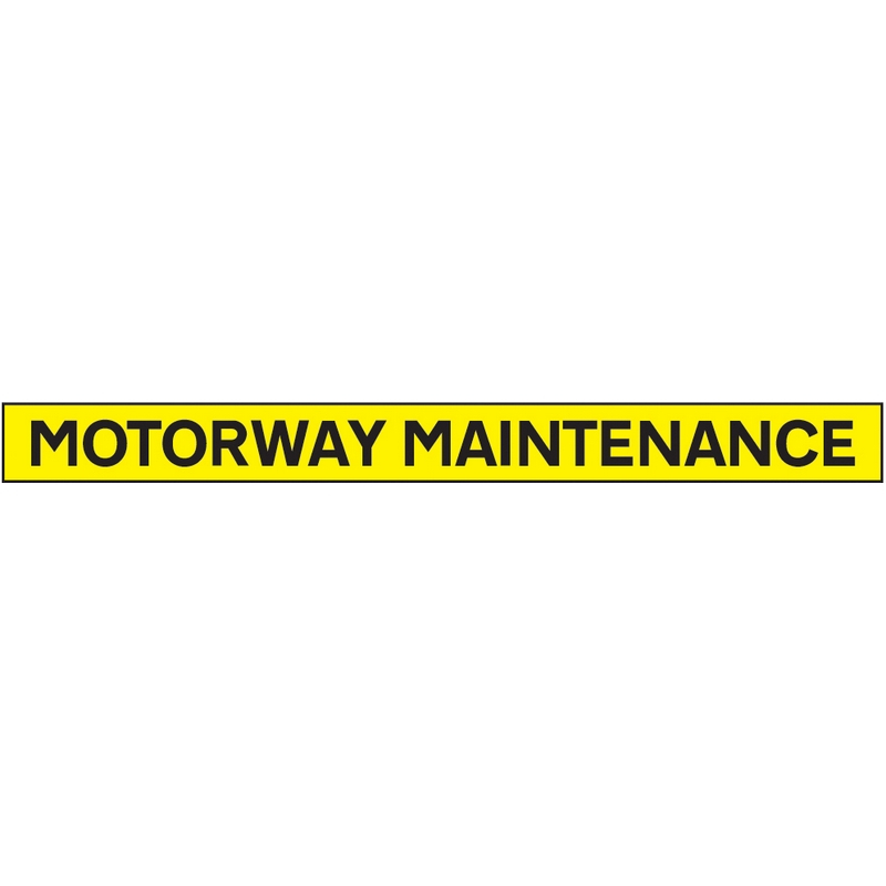 Motorway maintenance - 1300x100mm reflective magnetic