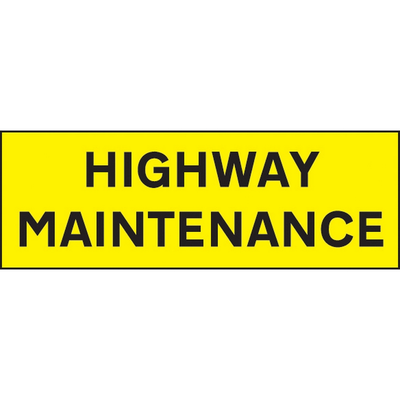 Highway Maintenance 800x275 reflective SAV