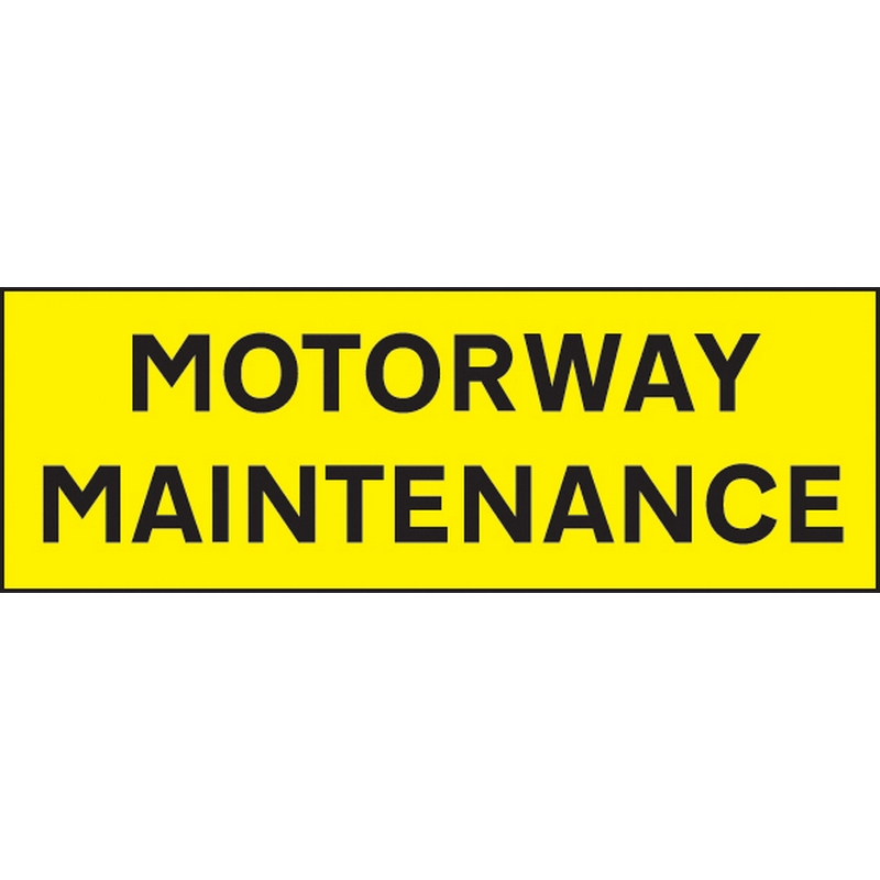 Motorway Maintenance 800x275 reflective SAV