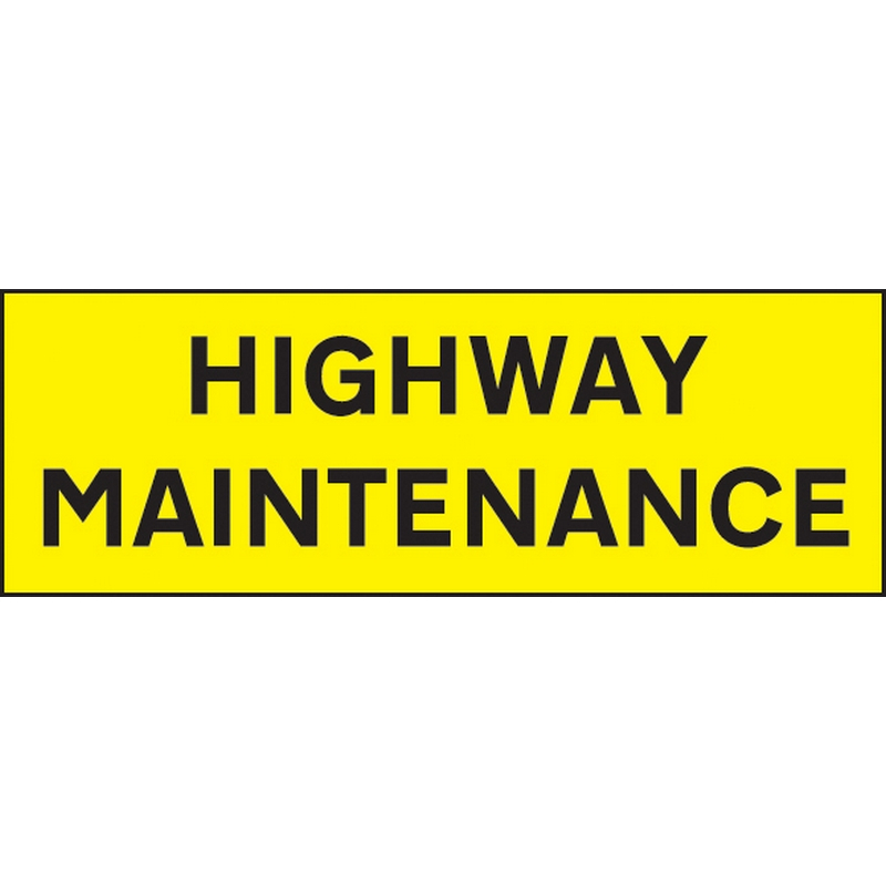 Highway Maintenance 800x275mm reflective magnetic