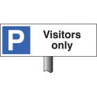 Parking visitors only verge sign 450x150mm (post 800mm)