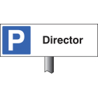 Parking director verge sign 450x150mm (post 800mm)