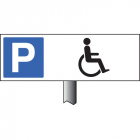 Parking disabled symbol verge sign 450x150mm (post 800mm)