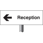 Reception left verge sign 450x150mm (post 800mm)