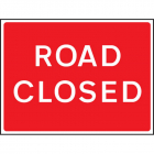 Road closed fold up 1050x750mm sign