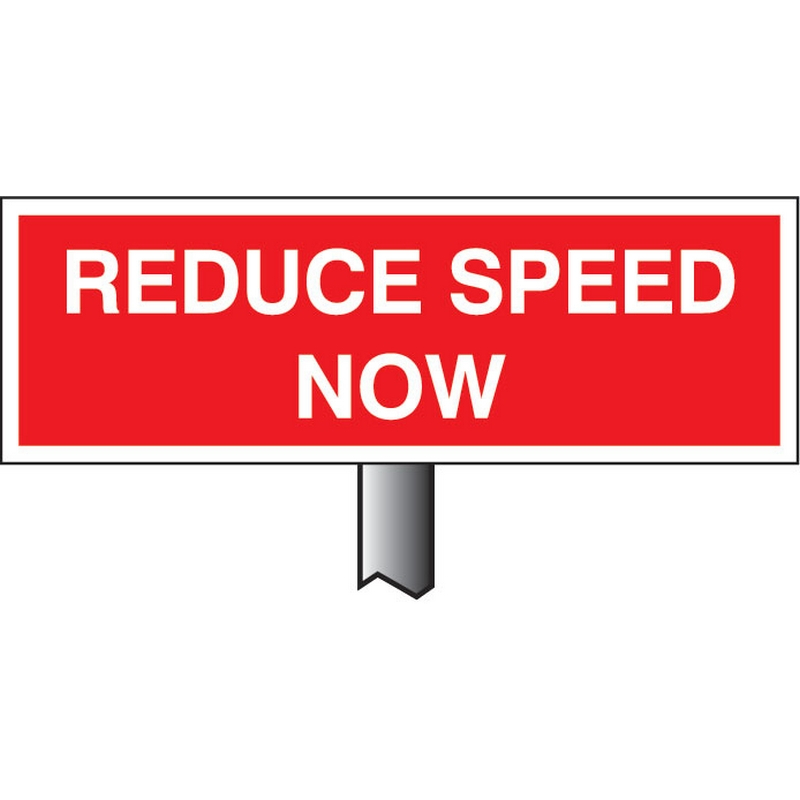 Verge sign - Reduce speed now 450x150mm (post 800mm)