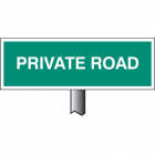 Verge sign - Private Road 450x150mm (post 800mm)