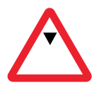 Maximum headroom class R2 Permanent 750mm triangle (3mm aluminium composite) c/w channelling
