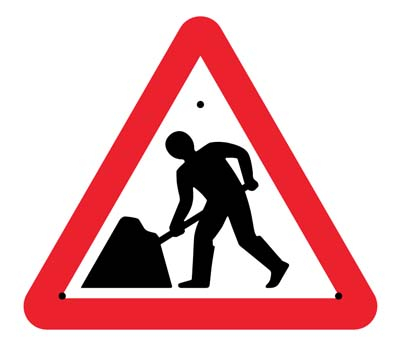 Road works, 750mm triangle Re-Flex Sign (3mm reflective polypropylene)