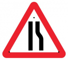 Road narrowing right, 750mm triangle Re-Flex Sign (3mm reflective polypropylene)