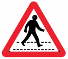 Pedestrian crossing 750mm triangle Re-Flex Sign (3mm reflective polypropylene)