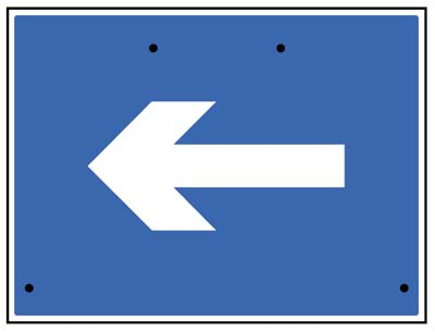 One way arrow only, 600x450mm Re-Flex Sign (3mm reflective polypropylene)