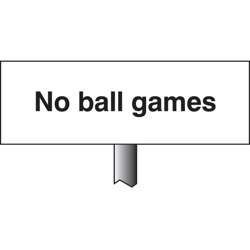 No ball games verge sign 450x150mm (post 800mm)