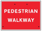 Pedestrian walkway, 600x450mm Re-Flex Sign (3mm reflective polypropylene)