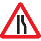 Road narrows right fold up 750mm triangle sign