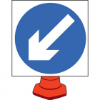 Keep left cone sign 750mm