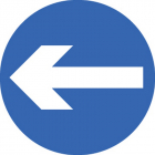 Direction arrow left/right Class R2 Permanent 600mm (3mm aluminium composite)