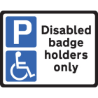 Disabled badge holders Class R2 Permanent 320x250mm (3mm aluminium composite)