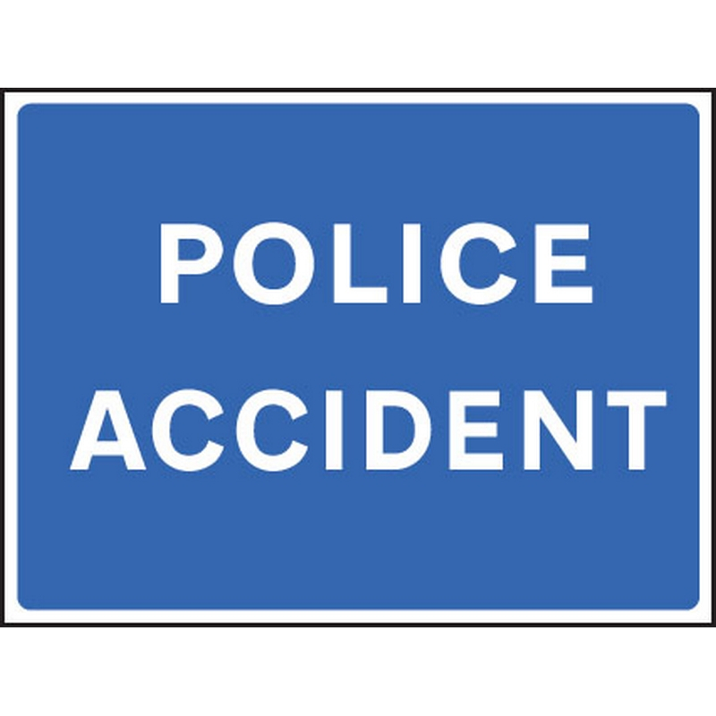 Police accident fold up 900x600mm sign