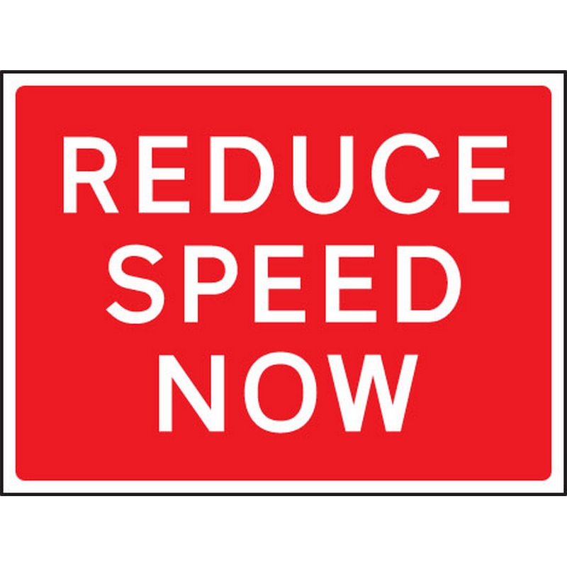 Reduce speed now 1050x750mm Class RA1 zintec