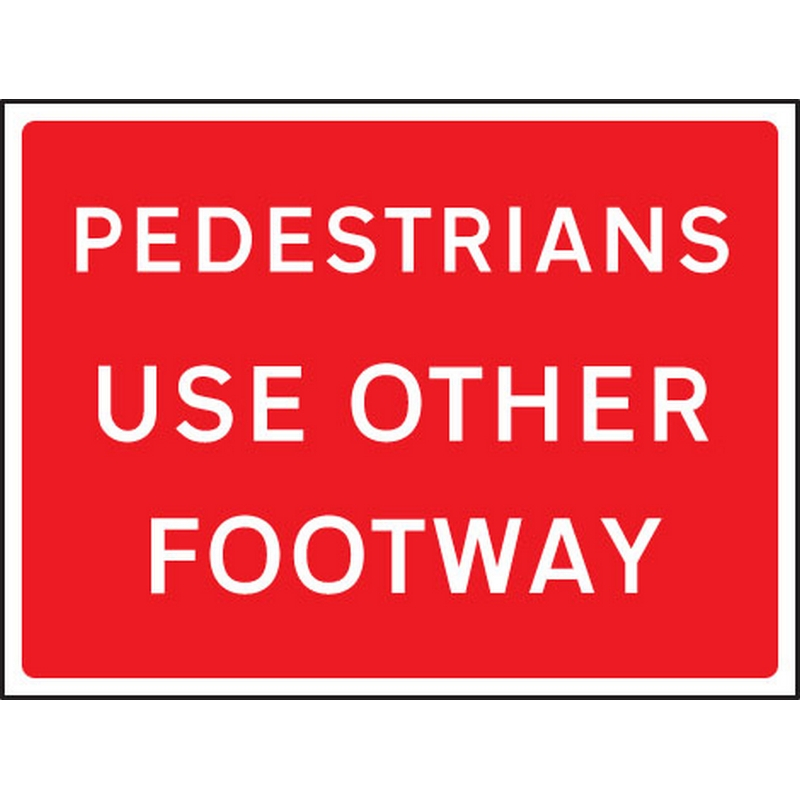 Pedestrians use other footway 600x450mm Class RA1 zintec