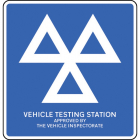 Vehicle testing station approved by the vehicle inspectorate