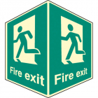Fire exit - projecting sign photoluminescent
