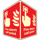 Fire alarm call point - projecting sign photoluminescent
