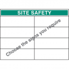 Standard bespoke site safety board 900x1200mm